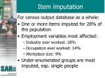 item imputation
