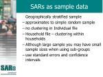 sars as sample data