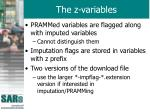 the z variables