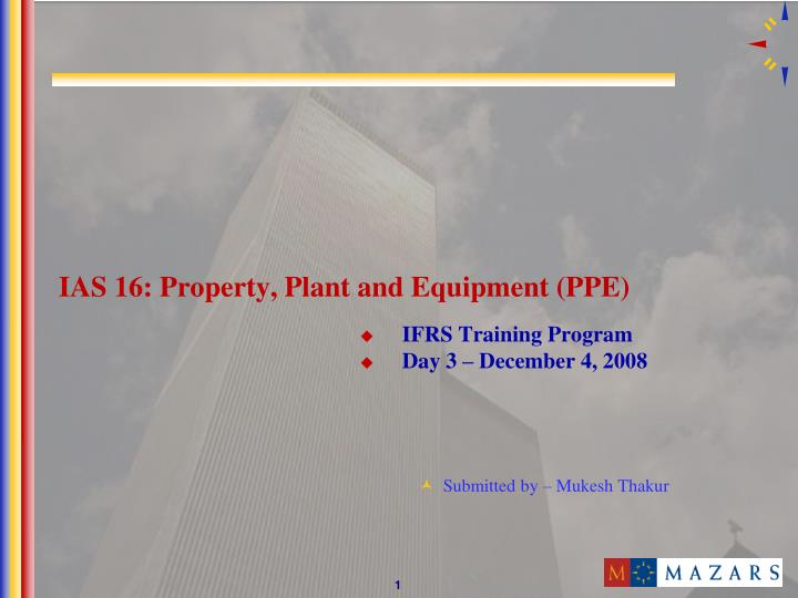 ias 16 property plant and equipment ppe n.