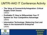 umtri aad it conference activity