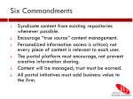 six commandments