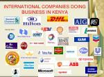 international companies doing business in kenya
