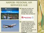 nairobi regional air serivices hub