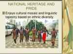 national heritage and pride