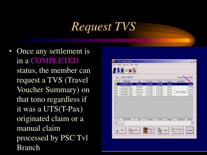 Request TVS
