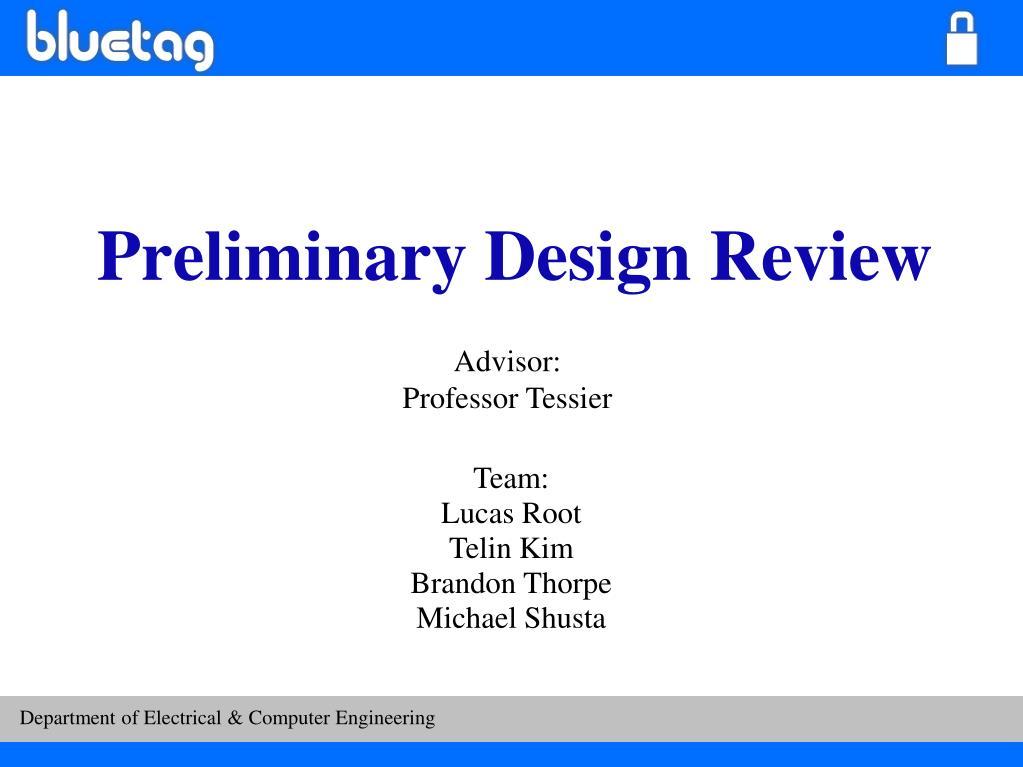 preliminary design review l.