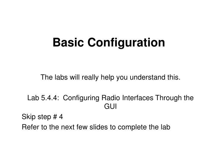 Basic Configuration