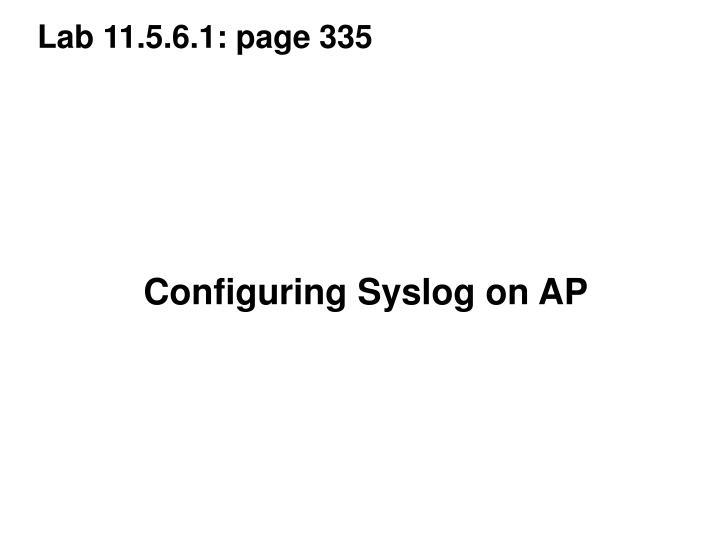 Lab 11.5.6.1: page 335