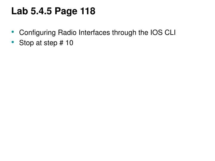 Lab 5.4.5 Page 118
