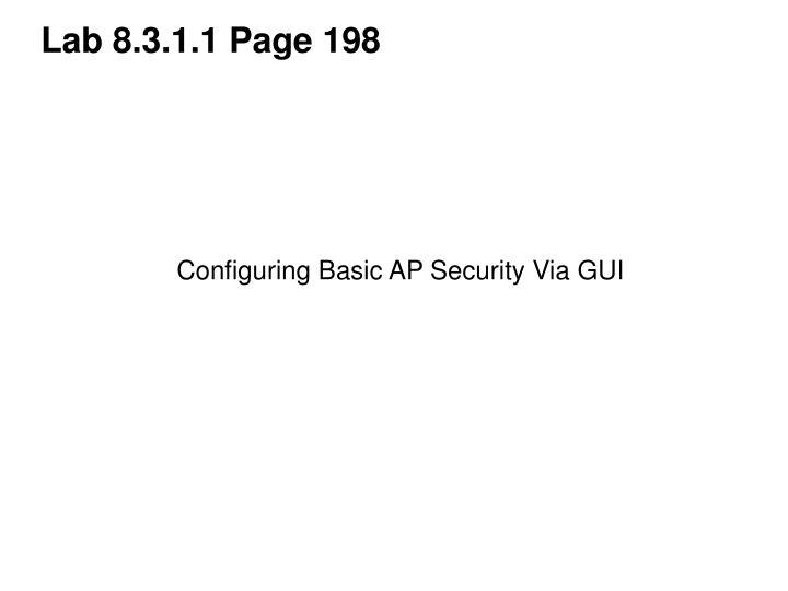Lab 8.3.1.1 Page 198