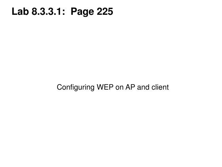 Lab 8.3.3.1:  Page 225