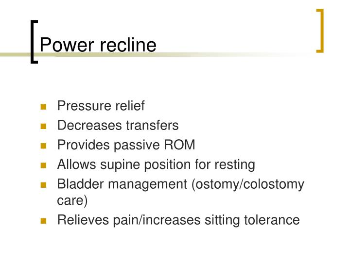 Power recline