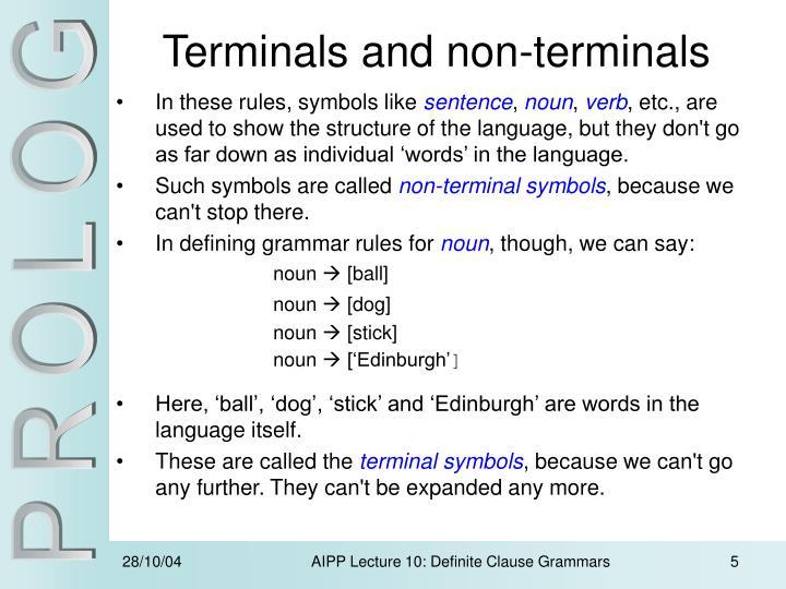 Ppt Definite Clause Grammars Powerpoint Presentation Id497932