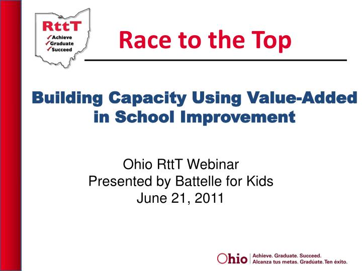 Building capacity using value added in school improvement