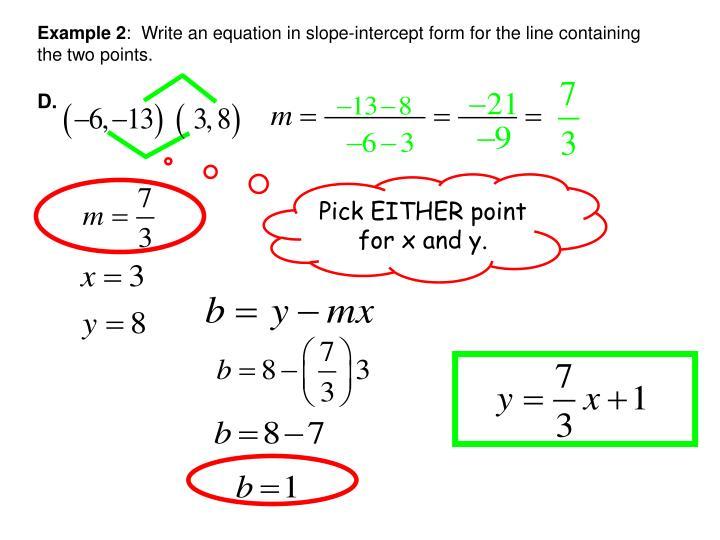 Ppt Interpret Linear Graphs Amp Write Linear Equations