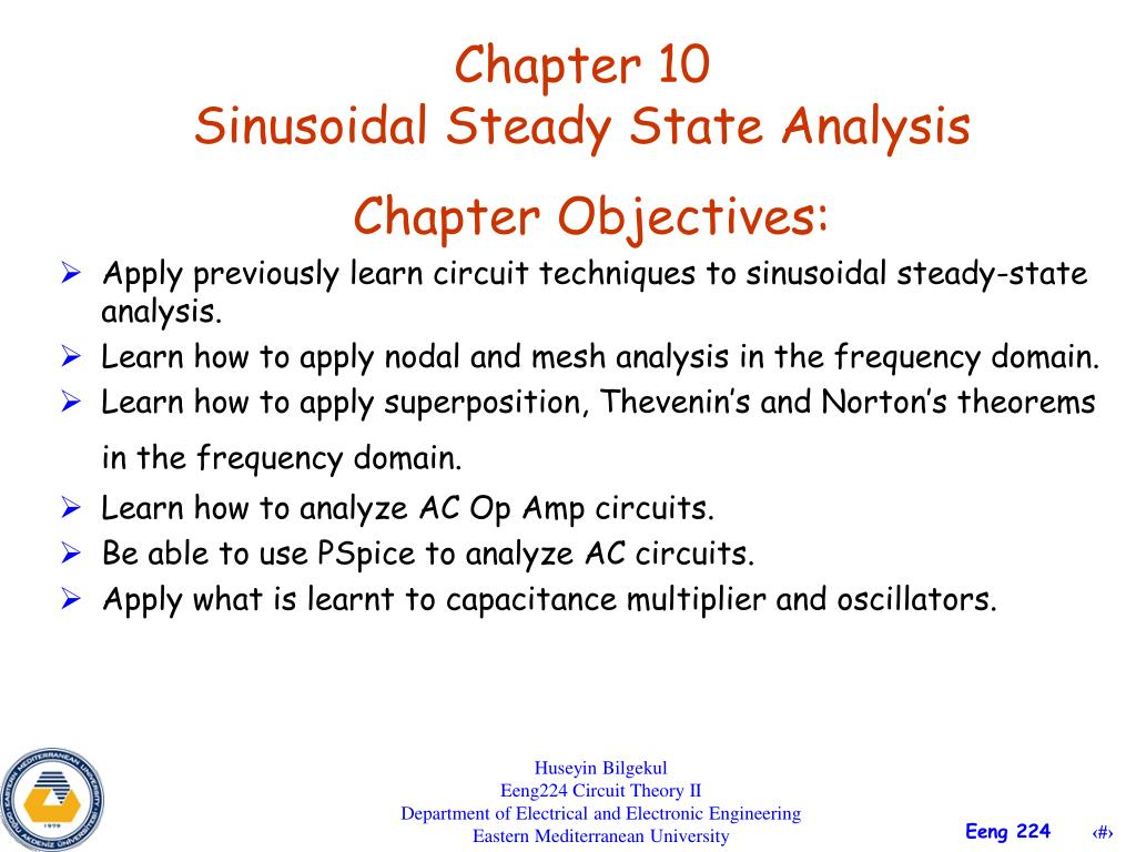 Ppt Chapter 10 Sinusoidal Steady State Analysis Powerpoint Learn About Circuit L