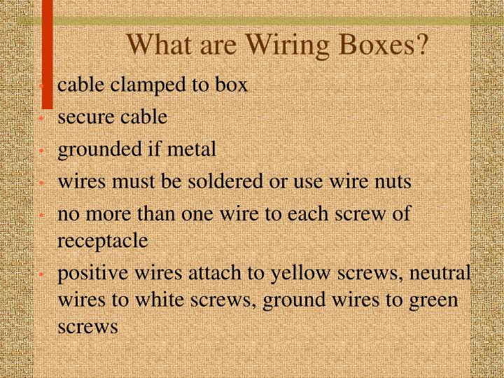 What are wiring boxes3