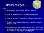 alcohol charges