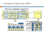 compile for multi core dsps