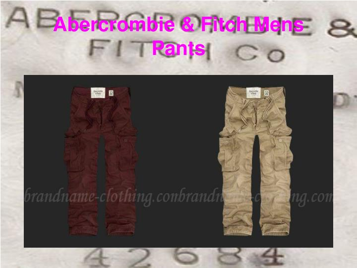 Abercrombie fitch mens pants