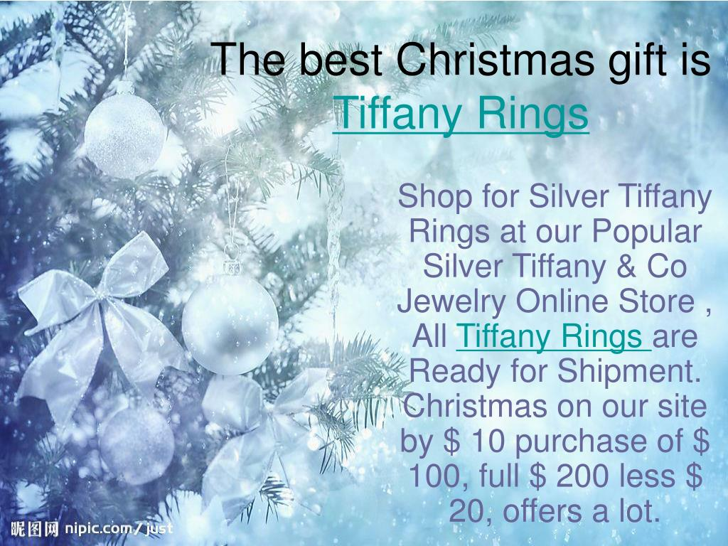 the best christmas gift is tiffany rings l.