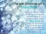 the best christmas gift is tiffany rings