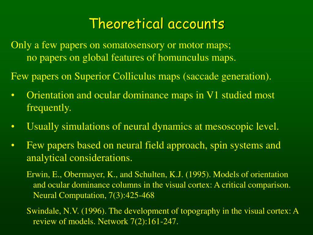 Theoretical accounts