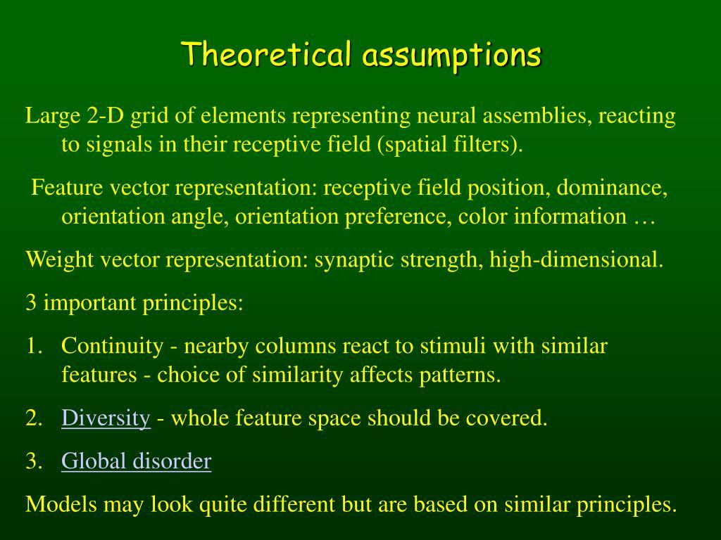 Theoretical assumptions