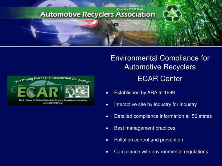 Environmental Compliance for