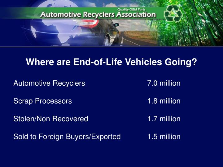 Where are End-of-Life Vehicles Going?