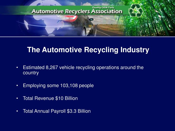 The automotive recycling industry