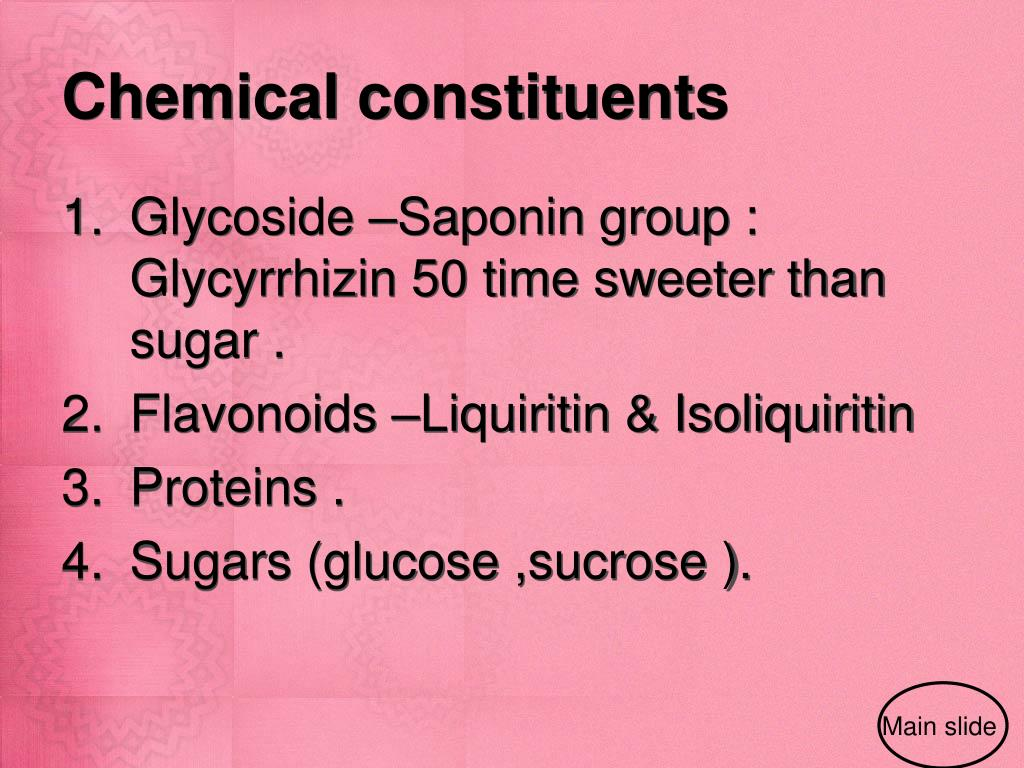 Chemical constituents