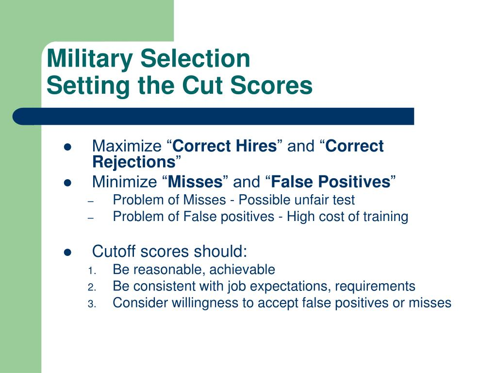 Military Selection