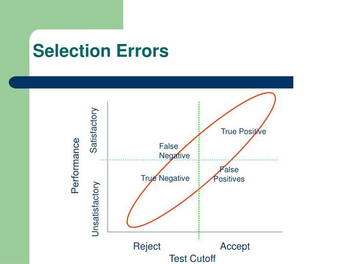 Selection errors