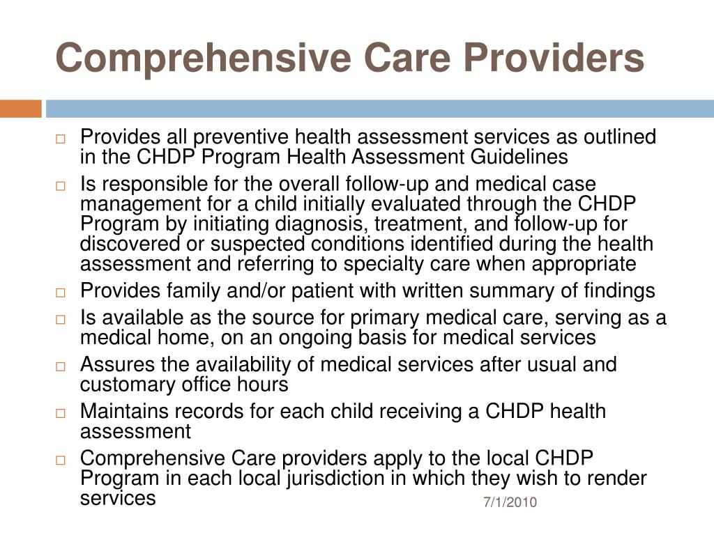 Comprehensive Care Providers