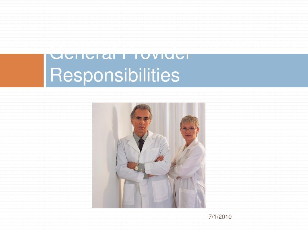General Provider Responsibilities