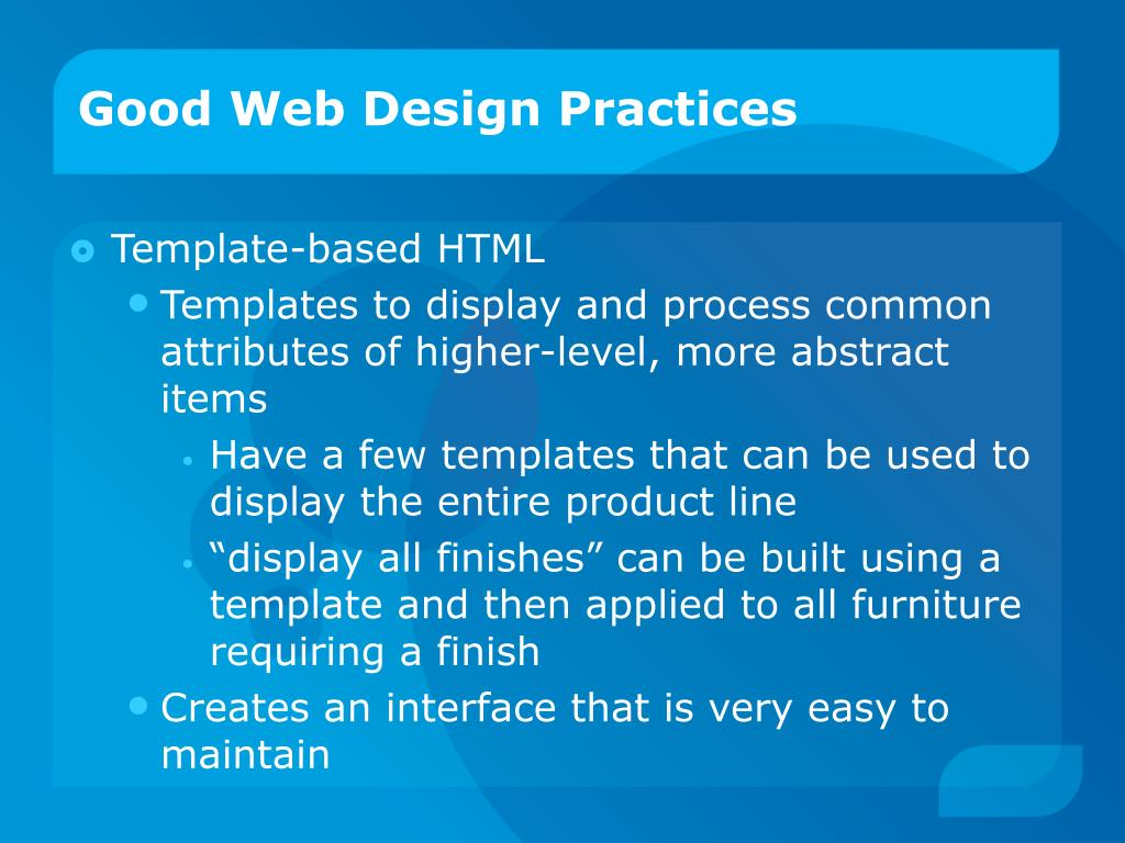 Good Web Design Practices