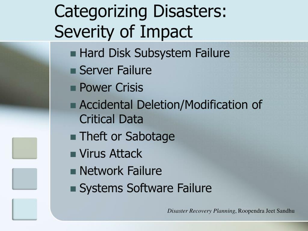Categorizing Disasters: