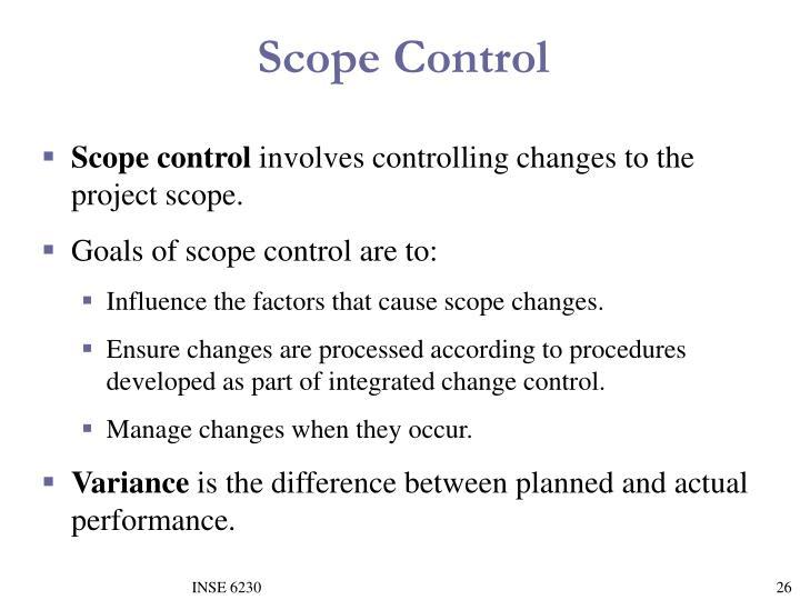 Scope Control