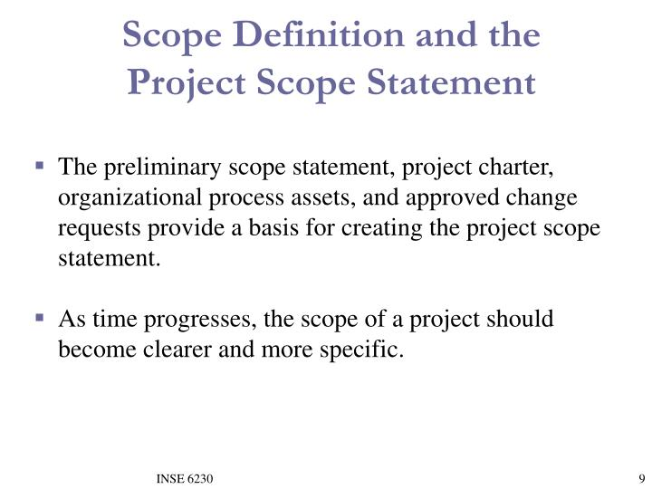Scope Definition and the