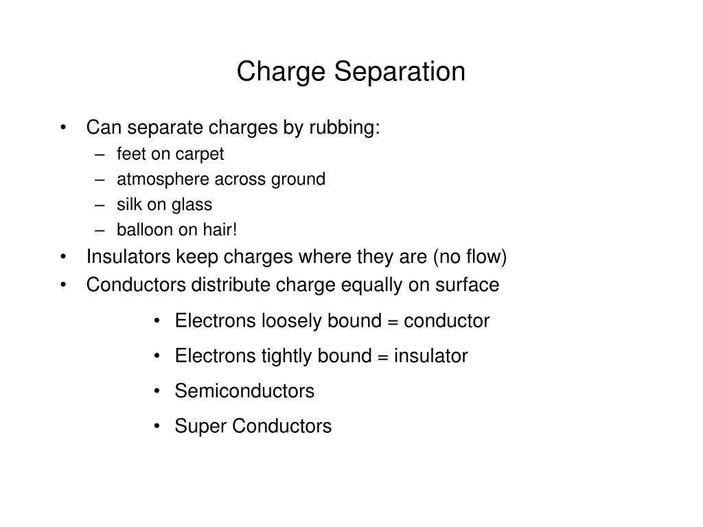 Charge Separation