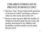children enrolled in private schools cont30