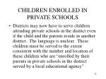 children enrolled in private schools
