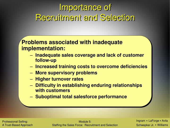 importance of recruitment and selection