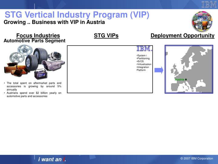 STG Vertical Industry Program (VIP)