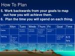how to plan8