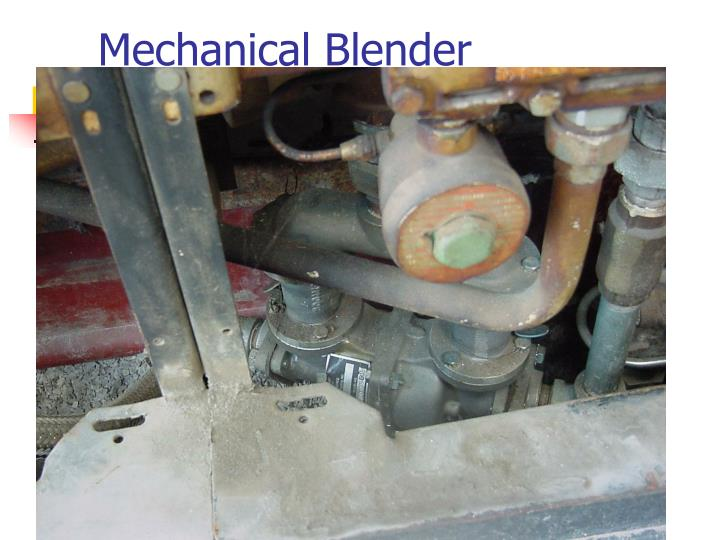 Mechanical blender