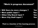 work in progress document7