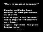 work in progress document8